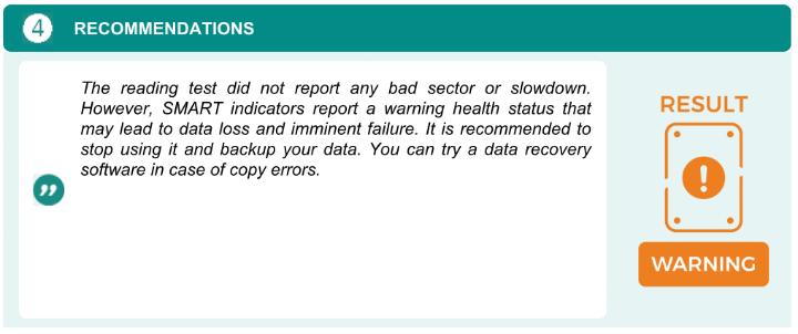 Recommandations report